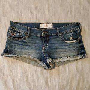 Hollister rolled cuff denim shorts size 9